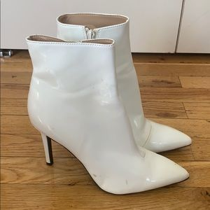 White Patent Boots